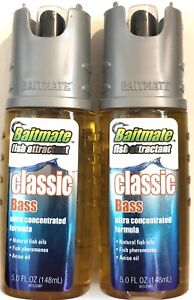 Lot Of 2 Baitmate Classic Scent Fish Attractant, for Lures and Baits - 5 fl oz