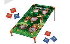 Jungle Themed Corn Hole bean Bag Toss Game Party Camp Activities