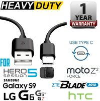 3ft Heavy Duty Type-C USB Fast Charge/Data Transfer Cable for Samsung,Gopro,ZTE