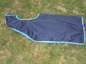 Ecotak Removable Waterproof Quarter/Exercise Sheet Navy/Aqua Large Ecotak