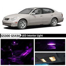 15x Fuchsia Purple Interior LED Lights Package Kit 1998-2005 Lexus GS300 GS430