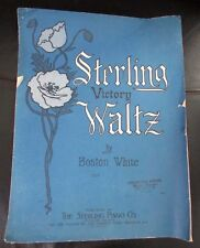 'Sterling Victory Waltz' Sheet Music 1919 Original Vintage