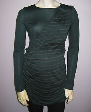 NWT Maternal-America-Pleated-Shoulder-Tunic-Forest Green- Size Small US ( 4-6)