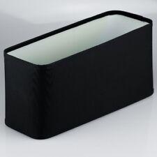 Stoffschirm für Tischleuchte schwarz Oval 27x14,3x9 E14 Linus Lampen Schirm