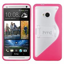 Silicone/Gel/Rubber Transparent Fitted Cases for HTC One