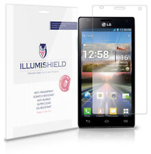 iLLumiShield Phone Screen Protector w Anti-Bubble/Print 3x for LG Optimus 4X HD