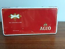 AGIO Red Tin Box Cigarillos Tobacco Advertising