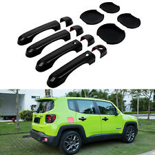 Exterior Door Handle Cover Smart Entry Button Hole Bowl Trim For Jeep Renegade