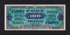F.C. FRANCIA FRANCE , 100 FRANCOS 1944 , MBC- ( VF ) , ESQUINA MANCHADA , P.118b
