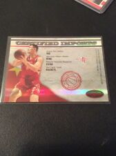 Yao Ming 2009/10 CERTIFIED IMPORTS Red 14/250 Pack Fresh
