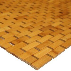 Einfarbige Badezimmer Vorleger Matten Aus Bambus Gunstig Kaufen Ebay