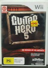 S1 Guitar Hero 5 Wii 85 Songs by 83 Artists PAL Nintendo Activision