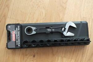 Powerfix Durchgangsratsche inkl. Steckschlüssel-Set 11-tlg. Werkzeug
