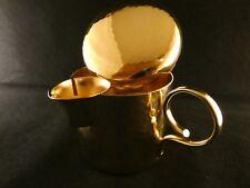 Milchkännchen 24 Karat Gold Sahnekännchen Edelstahl Dekoration Kaffee 60er