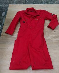 Dickies Ladies or Mens or Kids Use Red Colour Boilersuit.