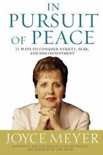 In Pursuit of Peace a Christian Hardcover book by Joyce Meyer FREE SHIPPING