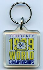 Sweden Keychain Ice Hockey Official World Championship 1989 Nice Grade !!!