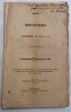 Two Discourses At  Rye, NH January 1825 H Porter HistoricalMemorbilia.com