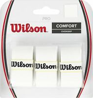 Wilson - WRZ4014WH - COMFORT Tennis Pro Racquet Pack of 3 Overgrip - White