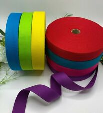 1.5 inch cotton webbing bright colours bag handle replacement strap tote strong