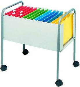 Helix Filing Trolley for 100 Foolscap Suspension Files W420xD640xH630mm - Steel