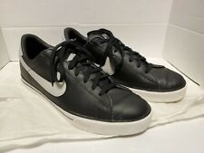 Nike Sweet Classic Leather Black Neutral Grey Shoes Men's Size 14 W Box