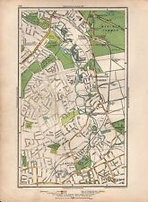 1936  LARGE SCALE VINTAGE LONDON MAP BEDDINGTON CORNER HACKBRIDGE CARSHALTON WAL