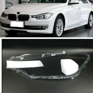 Left Headlamp Clear Lens Auto Shell Cover For BMW 3 Series F30 F35 2013-2015
