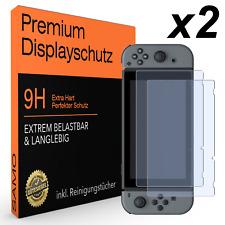 2x Nintendo Switch Displayschutz Schutzfolie Schutzglas Panzerfolie Glas Folie