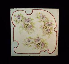 Carreau en faïence de MONTEREAU Décor floral XIXème