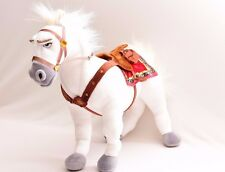 "Maximus Horse Plush 16"" Tangled Rapunzel Disney Store Exclusive Stuffed White"