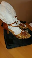 Capezio Womens Salsa Dance Shoes 2.5 in heel - Gold Satin