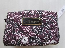 Marc Jacobs Cosmetic Bag Quilted Paisley Pouch Large Aubergine NEW