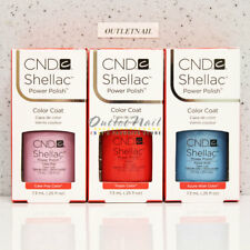 LOT 3 CND SHELLAC BASE TOP UV GEL NAIL COLOR KIT SET 7.3ml / 0.25oz Choose Any