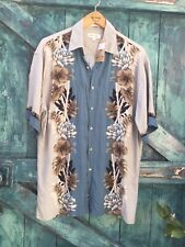 Mens Shirt Size M Pierre Cardin Vintage Floral Hawaiian 50s VGC