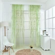 Rideau Voilage de Fenêtre en Voile d'Osier Décoration Maison Hôtel 200x250cm