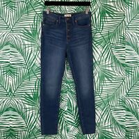 """Madewell 9"""" Mid-Rise Skinny Jeans Exposed Button Fly Women's Size 27"""