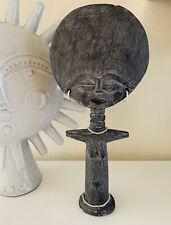 "13"" Fertility African Doll Hand Carved wood Vintage Ashanti Akuaba Wood rustic"