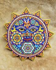 (Art18T) Huichol: Beaded Sunface