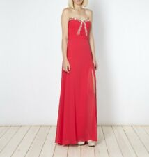 BNWT Lipsy VIP Sweetheart Embellished Ruched Pleated Maxi Dress UK10 RRP £120