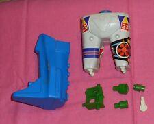 vintage Mego Micronauts BIOTRON PARTS LOT #6 leg, crotch, green adapters, wheel