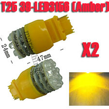 2X T25 3156 Coche 39 LED ámbar de la cola del freno Gire Indicador Bombilla 12V