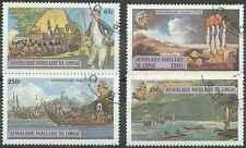 Timbres Bateaux Congo 534/7 o lot 8589