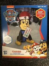 Inflatable Chase with Letter to Santa 3.5 Ft Tall Airblown Christmas Decor