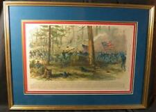Civil War, Battle of Bentonville, Hand Colored Copper Plate Engraving, 1865