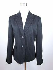 CANDA C&A Women's Vtg Retro Striped Business Casual Blazer Jacket sz 12 M BC71
