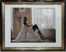 "VERY LARGE!! 35""x 27"" Mounted In Thoughts of You by Jack Vettriano Framed Print"