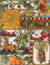 Cross Stitch Kit ~ Janlynn Autumn Montage Seasonal Flowers & Harvest #017-0103