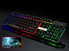 Gaming PC Keyboard Rii RK100+ USB LED Backlit Light Up Illuminated Keyboard