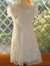Stone Gear, Girls ivory lace party/special occasion dress, size 8 to 10 USA